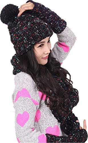 Staringirl Winter Scarf Gloves Knitted
