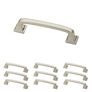 Franklin Brass P29521K-SN-B Satin Nickel 3-Inch Lombard Kitchen or Furniture Cabinet Hardware Drawer Handle Pull, 10 pack