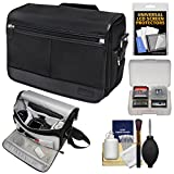 Nikon DSLR Camera/Tablet Messenger Shoulder Bag with Accessory Kit for D4s, Df, D810, D750, D610, D7200, D7100, D5500, D5300, D3300, D3200