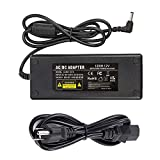 COOLM AC Adapter 12V 10A Power Adapter AC 100-240V to DC 12V Power Supply Charger with 5.5mm x 2.5mm DC Plug for LED Strips Lighting