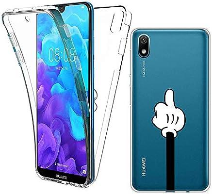 Reshias Funda para Huawei Y5 2019, Transparente TPU Silicona + PC ...