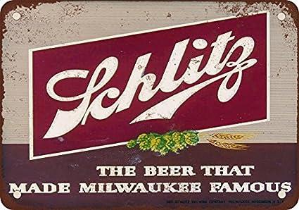 amazon com metal signs 1947 schlitz beer vintage look reproduction