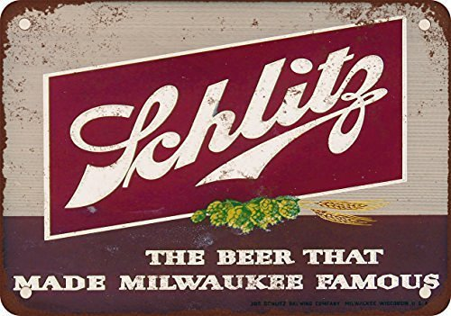 Small Vintage Beer - metal Signs 1947 Schlitz Beer Vintage Look Reproduction Metal Tin Sign, 12