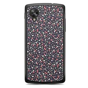Floral Nexus 5 Transparent Edge Case - Dark a