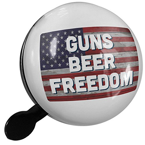 Small Bike Bell Guns Beer Freedom Fourth of July Vintage Wood Flag - NEONBLOND by NEONBLOND