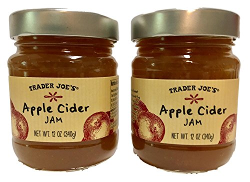 Trader Joes Apple Cider Jam and Recipe for Holiday Dip, Bundle of 2, 12 Ounces Each ()