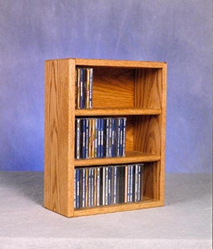 Wood Shed Solid Oak desktop or shelf CD Cabinet Honey Oak by Wood Shed