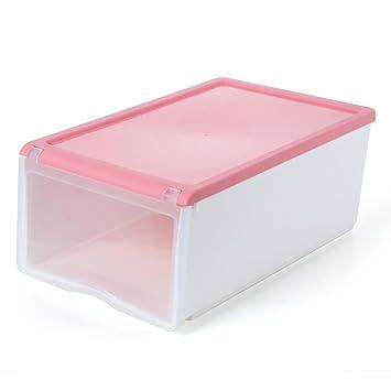Kaxima Caja de Zapatos, tirón, Tire-Calzado, plástico, Cajas de Almacenamiento, Cajas de Almacenamiento, 33x21x13.5cm: Amazon.es: Hogar