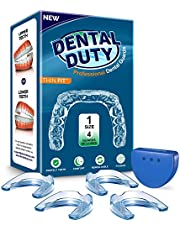 Professional Mouth Guard For Grinding Teeth, Thin Fit, Small Size, 4 Pieces Mouthguard, Moldable Night Guards For Teeth Grinding, Night Guard Eliminates Bruxism & Teeth Clenching, Antibacterial Dental