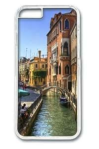 iphone 6 plus Case,Venice Channel Building PC Hard Plastic Case for iphone 6 plus 5.5 inch Transparent