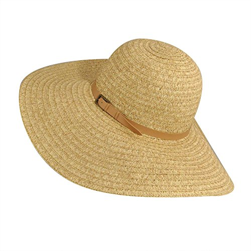 (Betmar Ramona Straw Braid Floppy Hat, Natural Multi, One Size Fits Most)