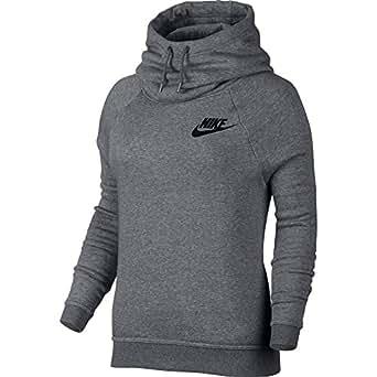 Nike NSW Rally Sportswear Women's Hoodie Black/White ...