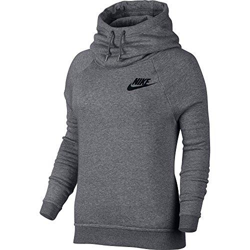 Nike NSW Rally Sportswear Women's Hoodie Grey/Black 828601-091 (Size XL)