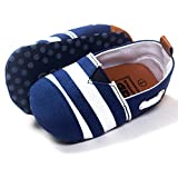 Ecosin Baby Blue Stripe Sneaker Anti-slip Soft Sole Toddler Prewalker (6-12months)