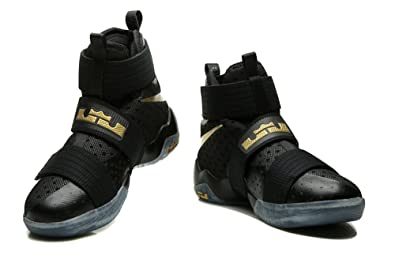 brand new bf300 bc764 Mens Lebron Soldier X 10 SFG EP Basketball Shoes Black Gold Men 11D(M