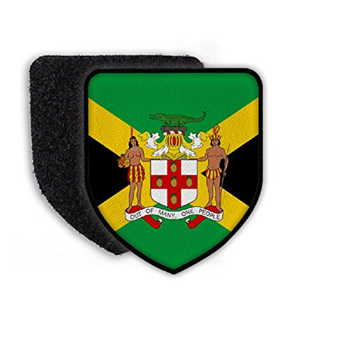 Flag of Jamaica country national coat of arms - Patch/Patches
