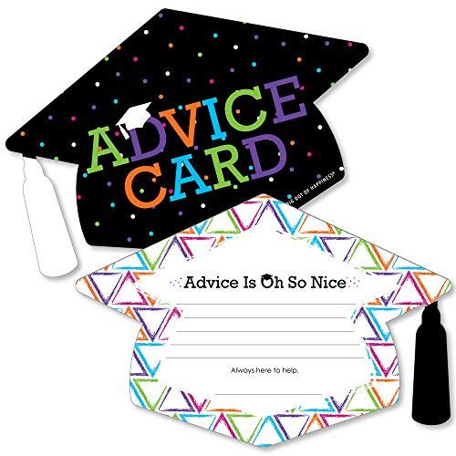 (Hats Off Grad - Grad Cap Graduation Party Advice Cards - Set of)