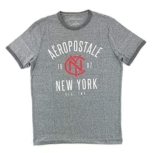 Aeropostale Men's Graphic Logo T-Shirt Large Gray 1652
