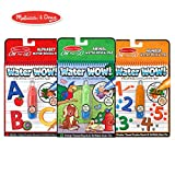 Melissa & Doug On The Go Water Wow Bundle Animals, Alphabet and Numbers Paint