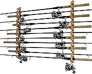 Rush Creek Creations 3 in 1, 11 Fishing Rod/Pole Storage Wall/Ceiling Rack