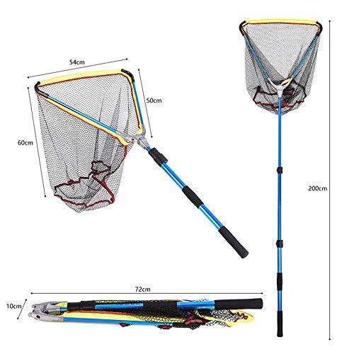 yangGradel Filet de p/êche Pliable en Alliage daluminium Pliable Poign/ée t/élescopique /à Long Manche