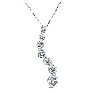Amazon ags certified 12 carat tw diamond journey pendant in ags certified 12 carat tw diamond journey pendant in 10k white gold k l aloadofball Gallery