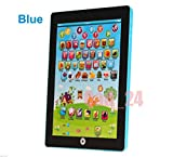 My First Ipad Tablet Kids Childrens Laptop Touch Type Learning Computer Educational Toy Game, BLUE