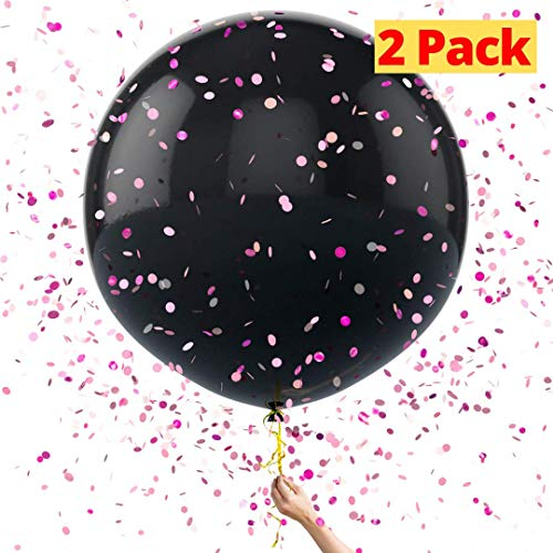 Baby Gender Reveal Balloon Kit by WeePrinces - Includes 2 Giant 36