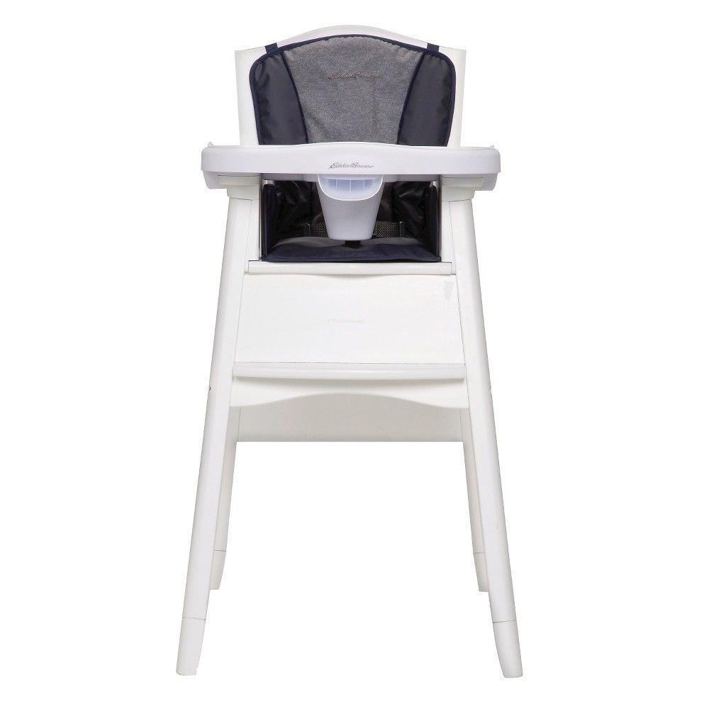 Eddie Bauer Deluxe 3-in-1 White High Chair, Twilight Blue