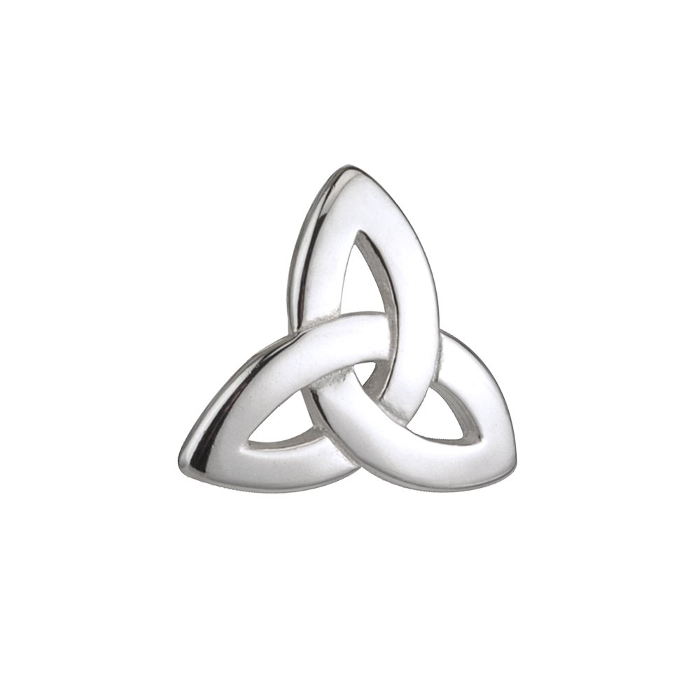 Biddy Murphy Sterling Silver Tie Clip Trinity Knot Made in Ireland by Biddy Murphy (Image #1)