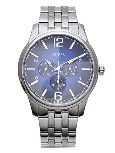 GUESS-Factory-Mens-Silver-Tone-Captain-Watch