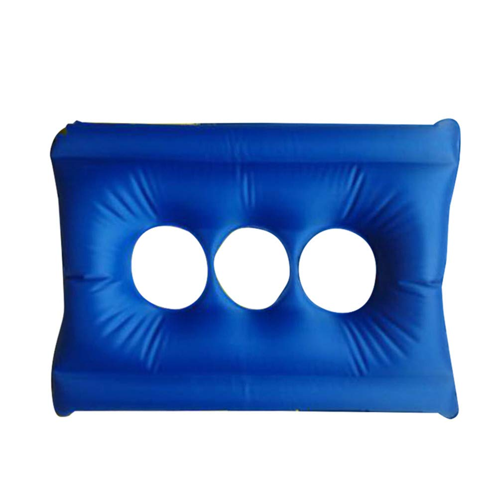 Ovovo Inflatable Cushion Seat with Hand Pump Breathable and Comfort Air Inflatable Seat for Wheel Chair Patients Ease Soreness, Hip Leg Support, Back Support, Relieve Pressure