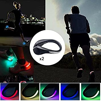 2X LED Shoe Clips Night Running Gear Running Gear Clips Shoe Clips for Runners
