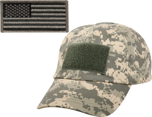 Digital Army Acu Camouflage (ACU Digital Camouflage Military Tactical Operators Cap With Foliage Green USA Flag Patch)
