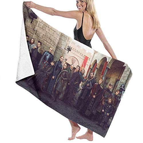 (YU339 Game of Thrones Luxury Oversized Personalized Custom Women Men Quick Dry Beach & Bath Blanket Towel Swimming and Camping 31¡®