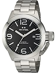 TW Steel Mens CB2 Analog Display Quartz Silver Watch