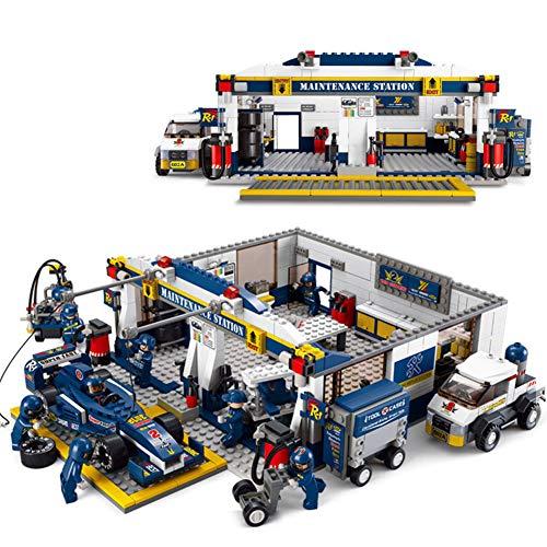 (Yyz Racing Series Assembled Building Blocks F1 Repair Station Model Racing Children's Educational Toys Assembly Model Building Blocks Birthday Gifts)