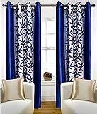 Inira Trendz 2 Piece Eyelet Polyster Door Curtain - Blue