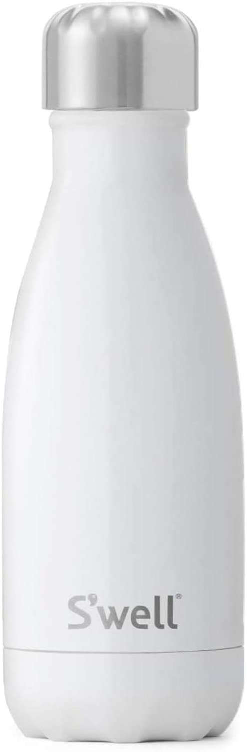 S'well Stainless Steel 9 Fl Oz-Angel Food Triple-Layered Vacuum-Insulated Containers Keeps Drinks Cold for 27 Hours and Hot for 12 - with No Condensation - BPA Free Water Bottle, 1 EA