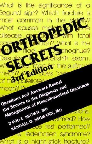 Read Online By David E. Brown MD Orthopedic Secrets, 3e (3rd Edition) pdf epub