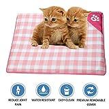 ShangjingMeixie Pet Dog Cooling Pad Natual Soft Bamboo Mat Waterproof Cushion for Crate Outdoor Car Mat