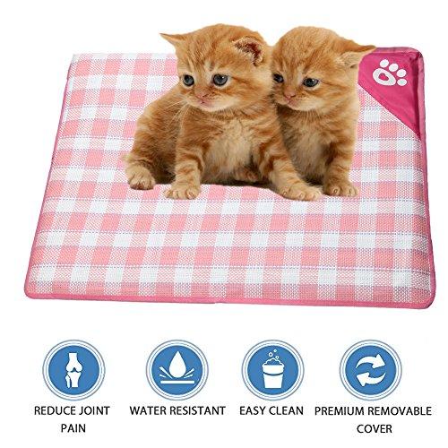 ShangjingMeixie Pet Dog Cooling Pad Natual Soft Bamboo Mat Waterproof Cushion for Crate Outdoor Car Mat by ShangjingMeixie