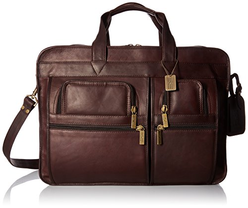 Claire Chase Jumbo Executive Computer Brief, Cafe - Executive Brief Bag