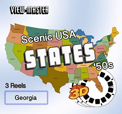 GEORGIA - Classic ViewMaster - 1950s Views 3D - 3 Reel Set (Georgia Square Logo)