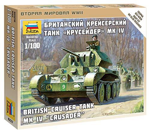 Zvezda Models British Tank Crusader MK  IV Model Kit (1/100 Scale)
