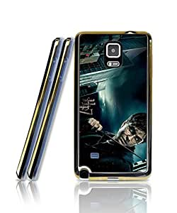 Film Harry Potter And The Deathly Hallows Funda Case For Galaxy Note 4, Extra Slim Silicone Gel Golden-Bordered + 2 in 1 Premium Clear Design Back Funda Case For Samsung Galaxy Note 4