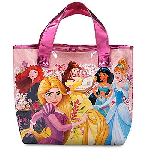 Disney Store Princess PVC School Book Swim Tote Bag, Rapunzel Jasmine Belle Merida