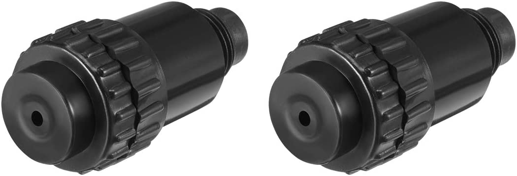 uxcell/® 3//8BSP Male Thread Air Compressor Intake Filter Silencer Muffler Black 2 Pcs