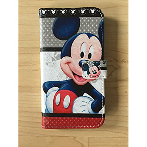 Mickey Mouse Pu Leather Case Wallet For Samsung Galaxy S7 Ship From NY 2 Sales