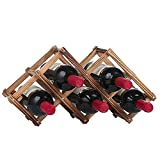 OKOKMALL US--Chic Wine Rack Wooden Folding Large Capacity Bottle Holder Vintage Display Shelf